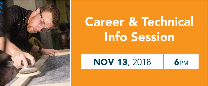 Career and Technical Programs Information Session | Tuesday, November 13 | 6:00pm
