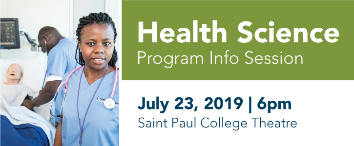 Health Science Info Session Tuesday, July 23, 2019