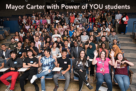 Mayor Carter with Power of YOU students 2018.jpg